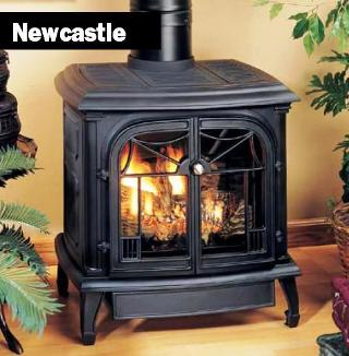 Comfort Glow gas burning cast iron stoves.